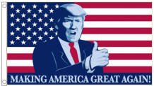 Donald Trump Cartoon 'Making America Great Again' 5'x3' Imported Flag
